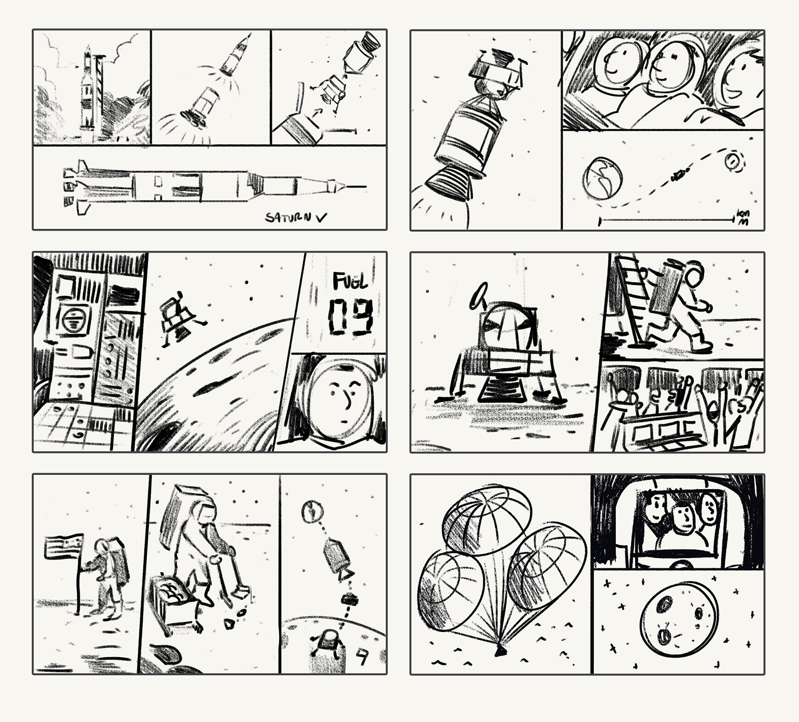 Primer storyboard creador por el artista Pedro Vergani. (Foto: Google)
