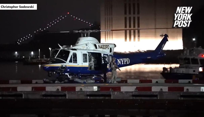 El Chapo Guzmán fue trasladado en helicóptero a la prisión donde cumplirá cadena perpetua. (Foto: captura New York Post)