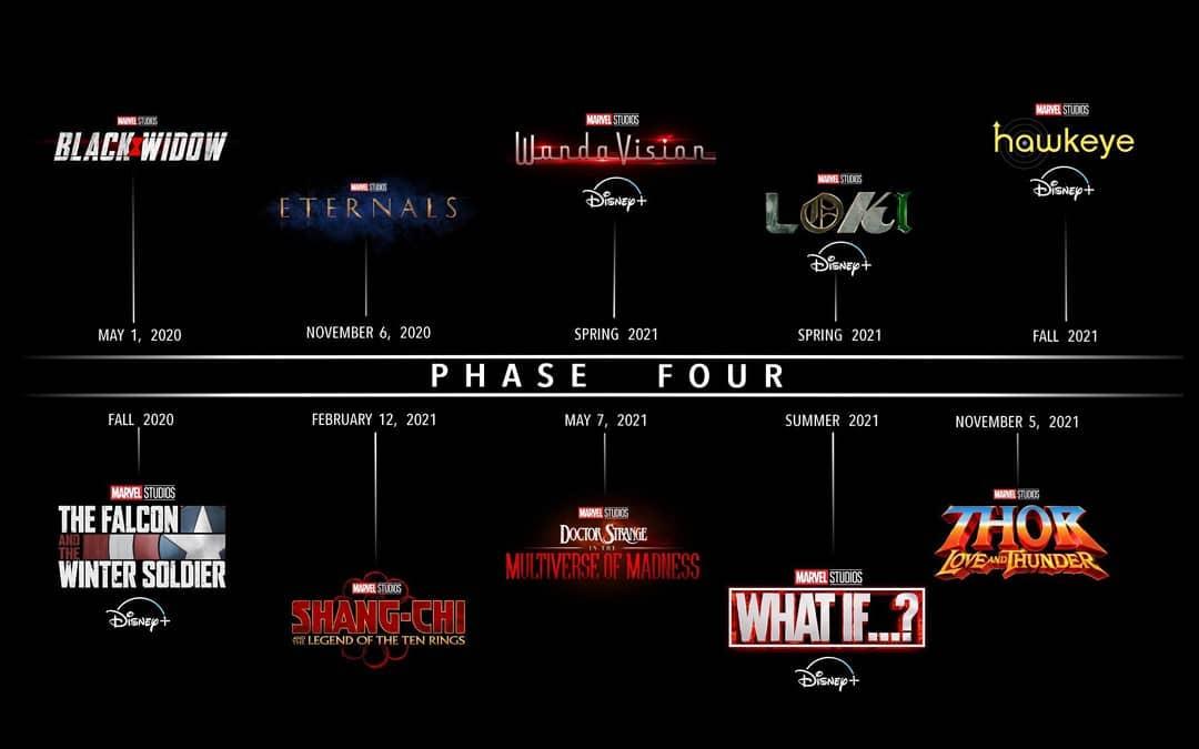 Estas son las primeras producciones que formarán parte de la Fase 4 del UCM. (Foto: Marvel)