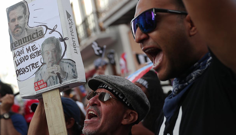 Ricardo Rosselló anunció su renuncia a gobernador de Puerto Rico en medio de numerosas protestas en el país boricua. (Foto: AFP)