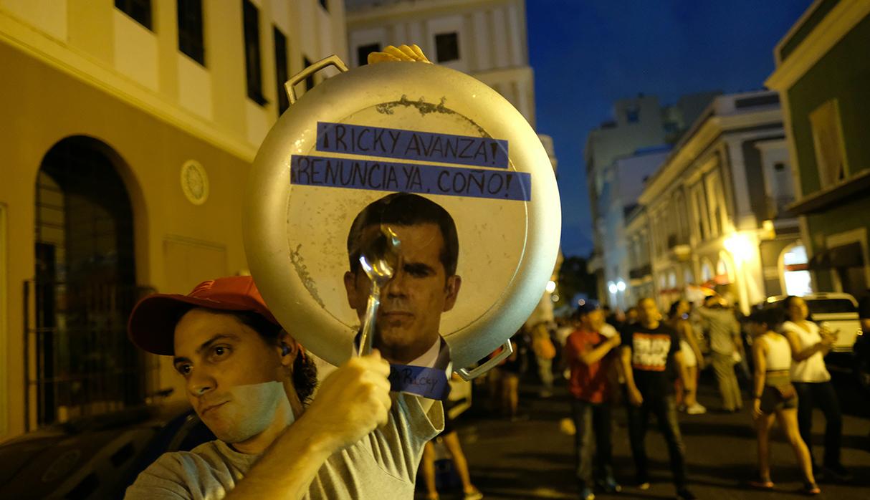 Ricardo Rosselló anunció que dejará el cargo el próximo viernes 2 de agosto. La Cámara de Representantes espera la carta oficial del todavía gobernador puertorriqueño. (Foto: AFP)