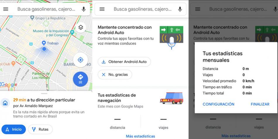Estos datos son obtenidos por Google Maps a través de la geocalización encendida en tu dispositivo. (Foto: Google)