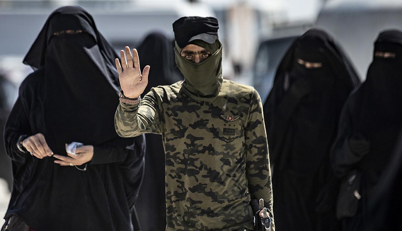 Los refugiados cuentan con vigilancia constante por parte de los kurdos. (Foto: AFP)