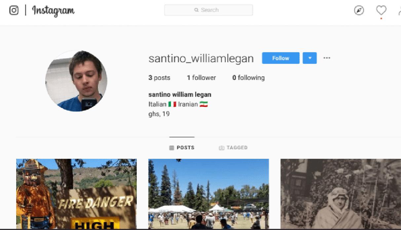 Esta es la cuenta de Instagram de Santino Legan, señalado como autor del tiroteo en un festival de comida en California. La policía lo abatió.