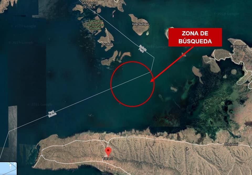 La zona del Lago Titicaca donde se realizan las labores de búsqueda. (Foto: Facebook La Armada en Acción)