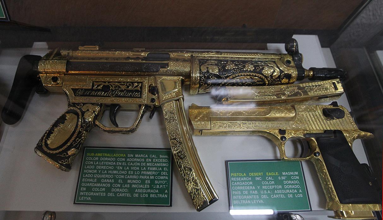 Este museo guarda valiosos objetos incautados a los carteles de drogas. (Foto: EFE)