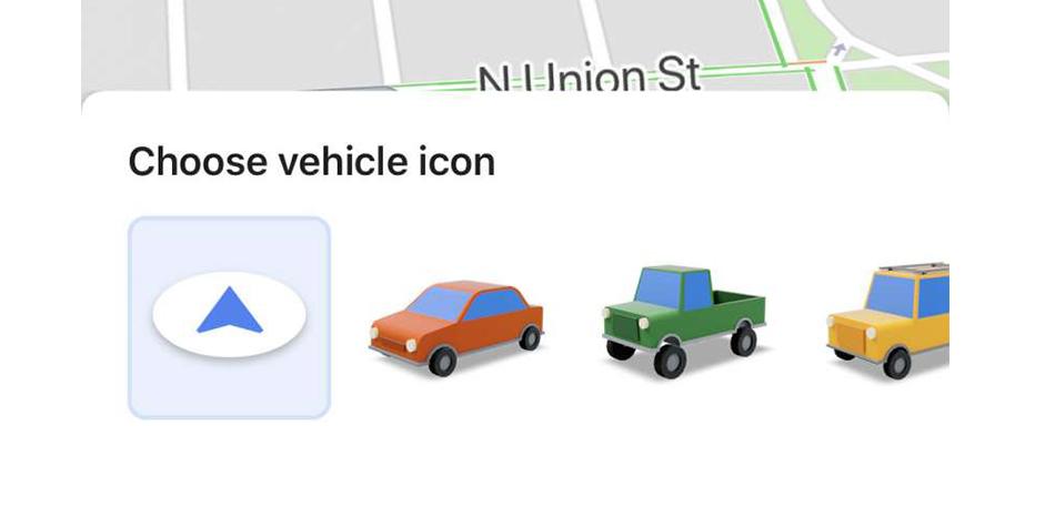 Así puedes cambiar el clásico ícono de color azul a un auto rojo, verde o amarillo gracias a este truco de Google Maps. (Foto: Google)