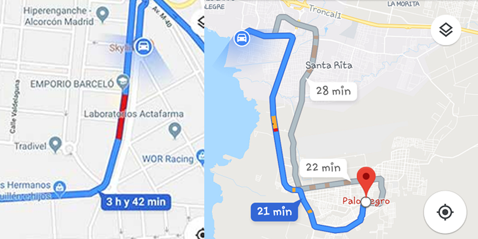 ¿Sabes realmente si estás usando la ruta más rápida para transitar? Aprende qué cosa es cada rayita en Google Maps. (Foto: Google)