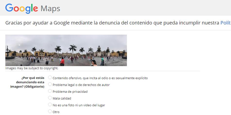 Uno de los pasos es llenar un formulario para que Google pueda eliminar de la web tu casa. (Foto: Google)