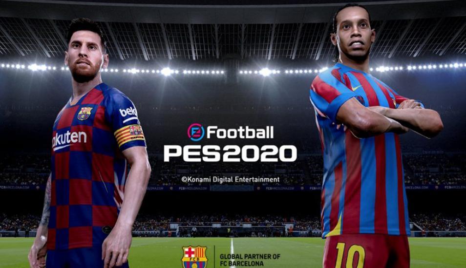 Messi y Ronaldinho en portada. | Konami