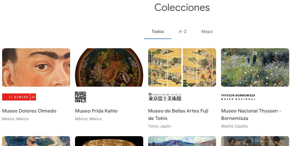 Estos son todos los museos que puedes encontrar en la página de Arts & Culture de Google Maps. (Foto: Google)