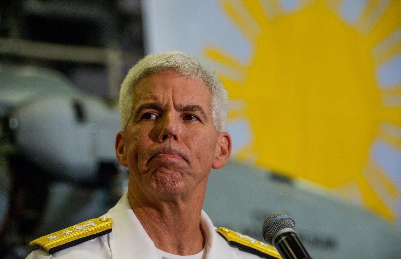 El contralmirante estadounidense Karl O. Thomas. (AFP)