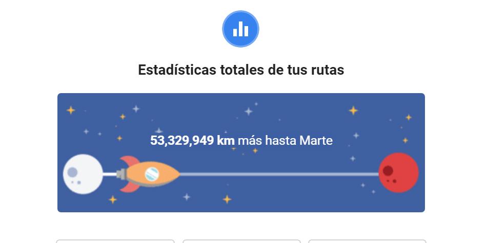 También se te muestra una estadística de cuánto te falta para llegar a Marte. (Foto: Google)