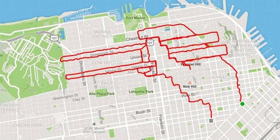 El corredor Lenny sorprendió al dibujar su recorrido en Google Maps. ¿Cómo lo hizo? ¿Qué aplicación usó?