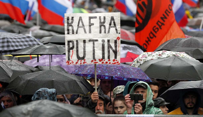 Al menos 40.000 manifestantes en Moscú para exigir elecciones libres. (Foto: EFE)