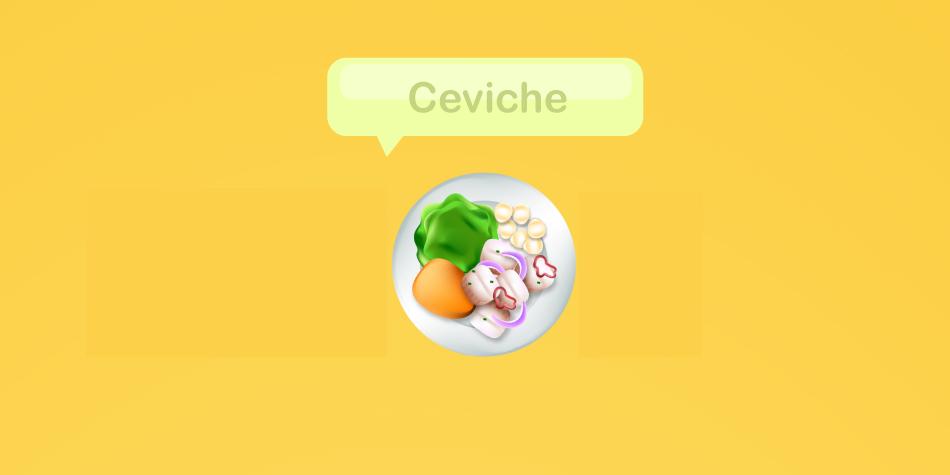 Otro emoji que puede postularse para el próximo año es el ceviche. ¿Te imaginas verlo en los emoticones de WhatsApp?
