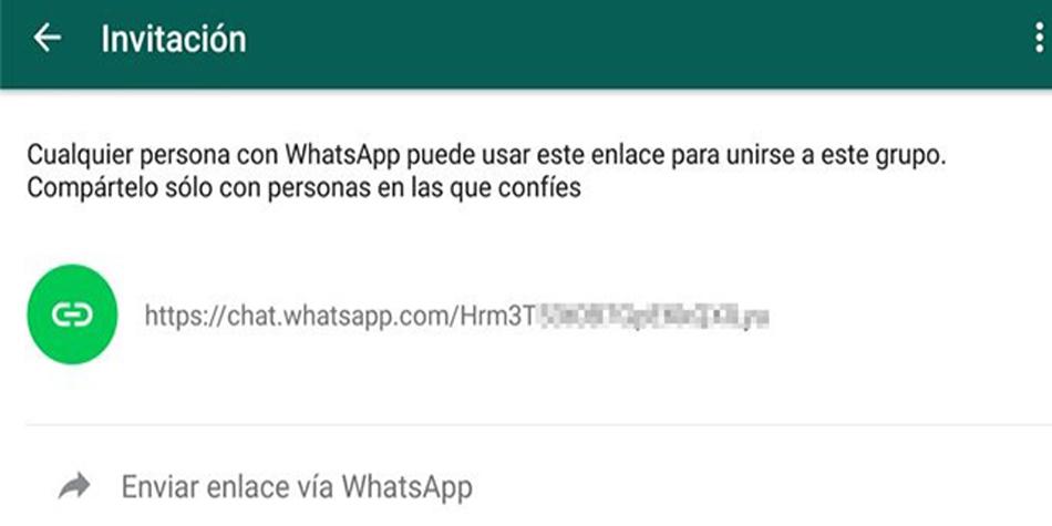 A través de WhatsApp puedes crear enlaces para que se unan a tu grupo y así obtener el número de la persona. No es necesario registrarlo. (Foto: WhatsApp)