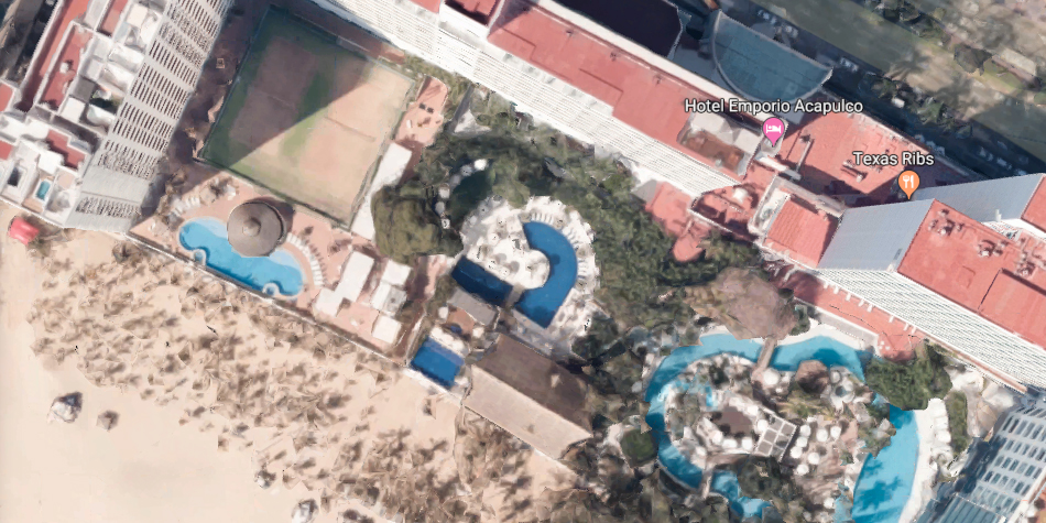 El hotel actualmente se llama Hotel Continental Emporio Acapulco. Y fue en ese lugar donde se filmó