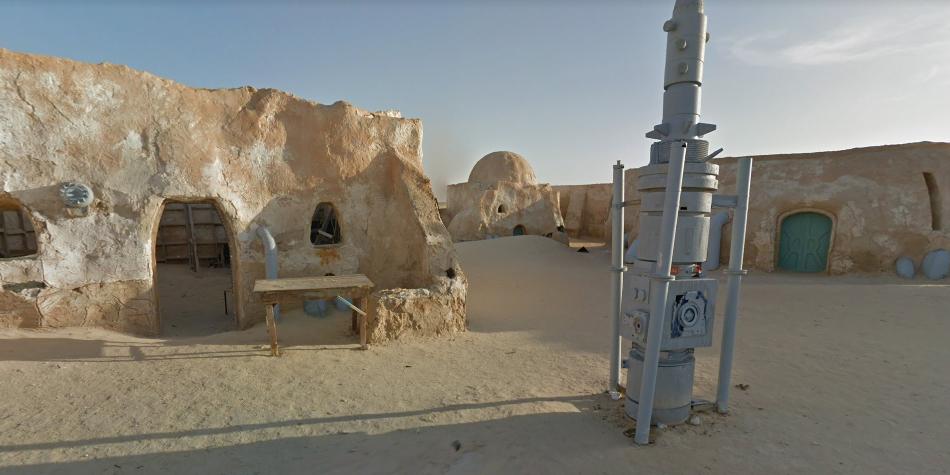 Tataouine se encuentra en Túnez. En dicho lugar observamos gran cantidad de la escenografía usada en el primer capítulo de Star Wars. (Foto: Google)