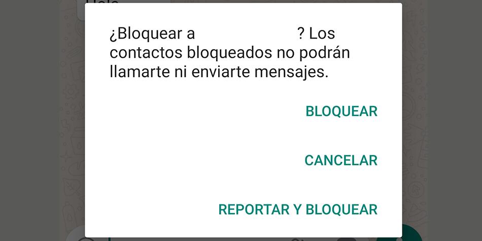 El reporte se manda a la compañía de WhatsApp y ellos determinan si deciden eliminar la cuenta o no del usuario. (Foto: WhatsApp)