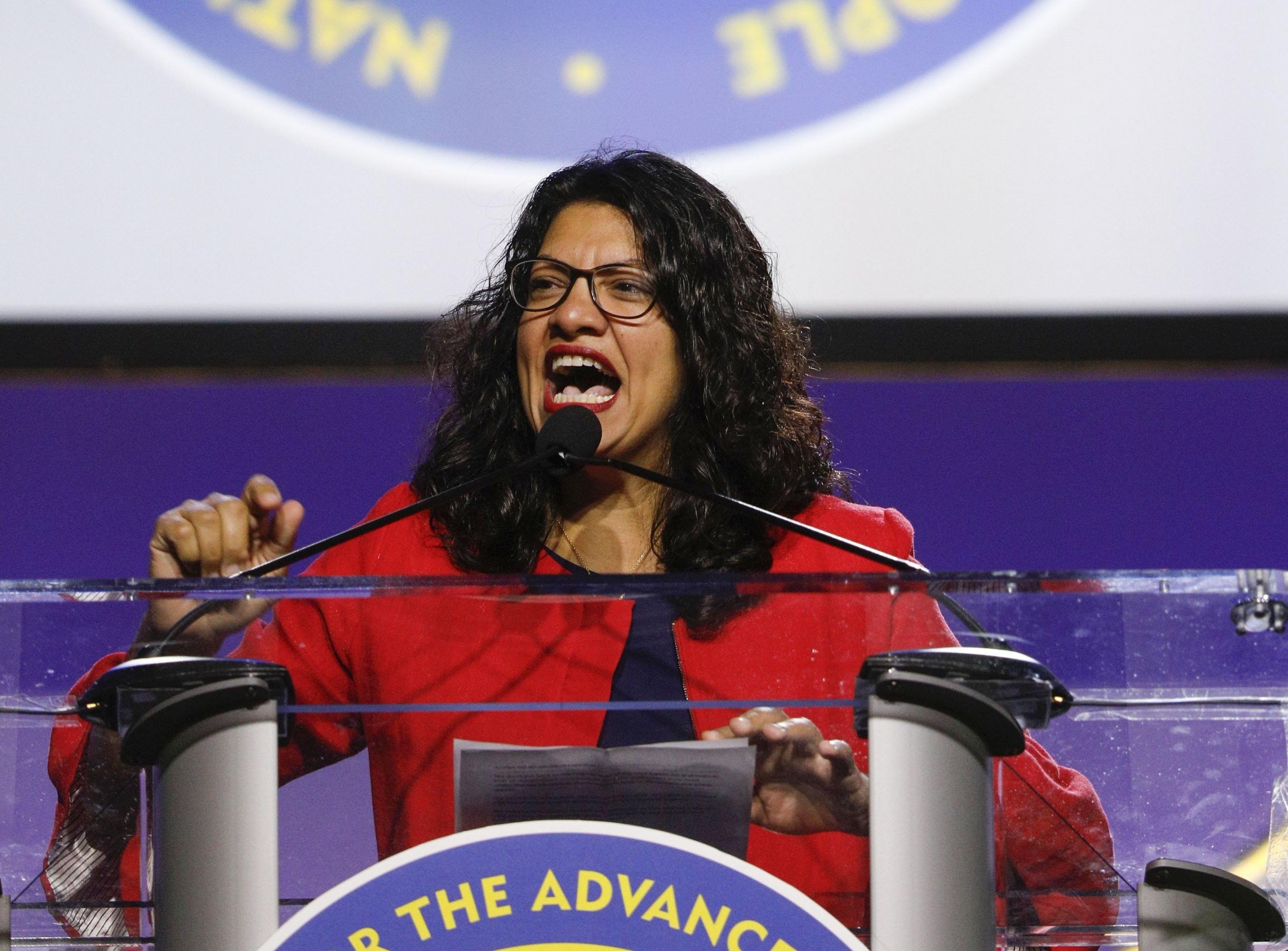 En la imagen, la representante estadounidense Rashida Tlaib. (Foto: AFP)