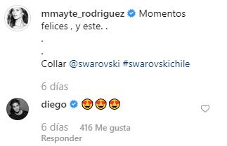 Diego Boneta y su comentario en Instagram. (Foto: Captura)