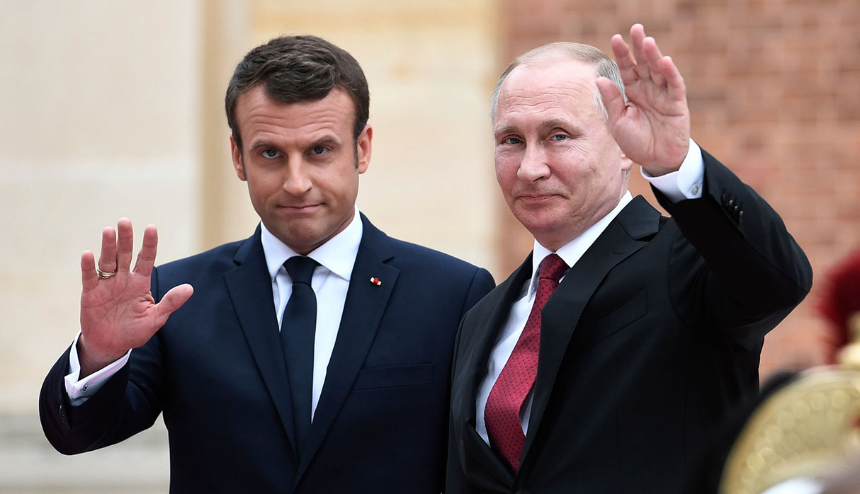Emmanuel Macron y Vladimir Putin discutirán temas relacionas a las crisis en Ucrania y Siria. Además, las protestas en Moscú y el programa nuclear con Irán. (Foto: AFP/archivo)