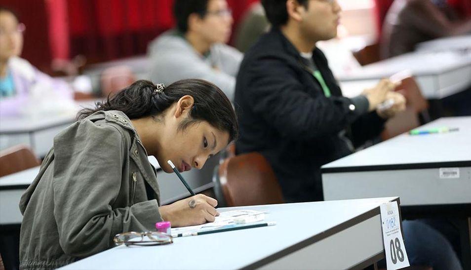 Los postulantes solo deben llevar su identificación y lápiz para rendir su evaluación. (Foto: Andina)