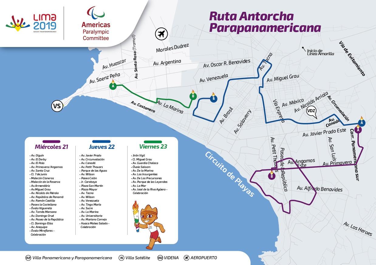 Antorcha Panamericana recorrerá los distritos de Surco, Miraflores, Barranco (Difusión).