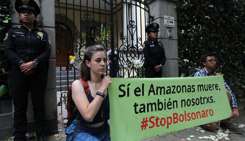 Ciudad de México también elevó su voz de protesta por los incendios en la Amazonía. (Foto: EFE)