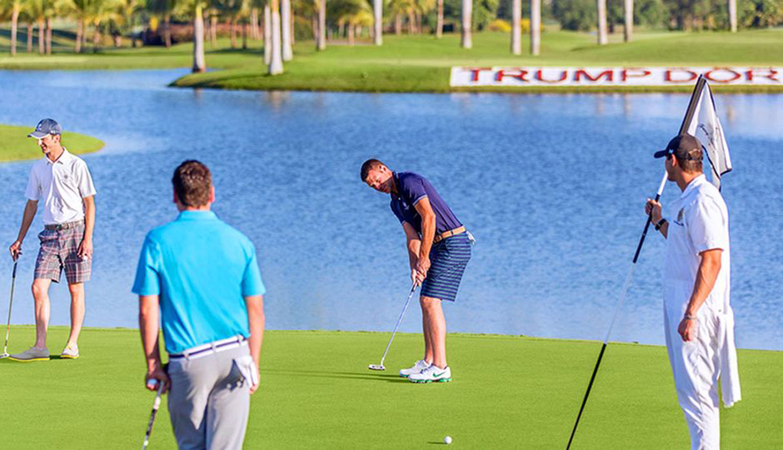 Su extensa área permite realizar deportes como el golf. (Foto: Trump Hotels)