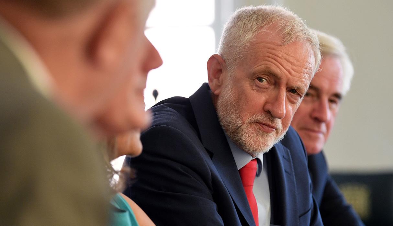 Jeremy Corbyn, el principal líder opositor a Boris Johnson. (Foto: AFP)