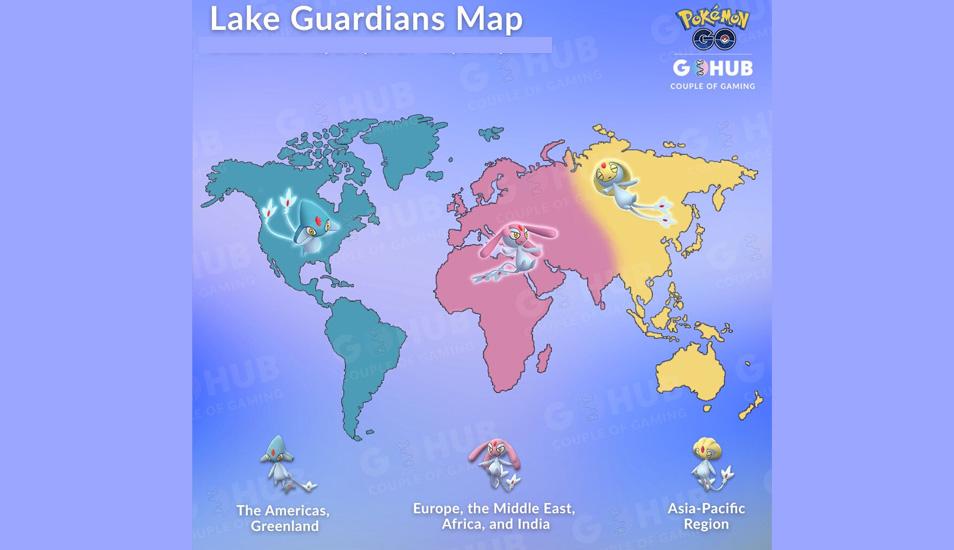 Conoce en qué lugares específicamente aparecerán los Pokémon Uxie, Mespirit y Azelf en Pokémon GO. (Foto: Pokehub)