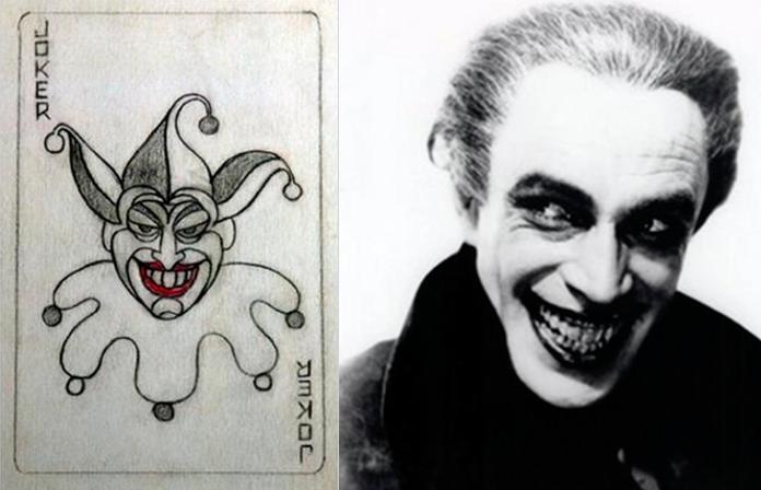 Joker recibió dos principales inspiraciones: un borrador de Jerry Robinson y la actuación de Conrad Veidt en