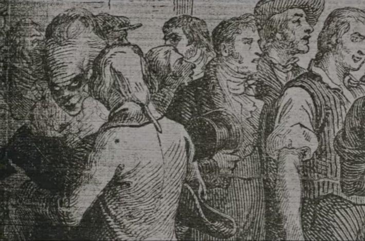 Pennywise dentro de uno de los libros antiguos de Derry (Foto: Warner Bros.)