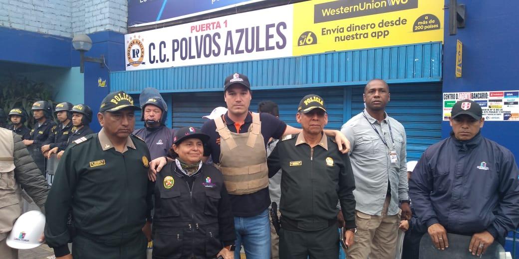 Susel Paredes, gerenta de Fiscalización y Control, y Seguridad Ciudadana de La Victoria participó de la diligencia.