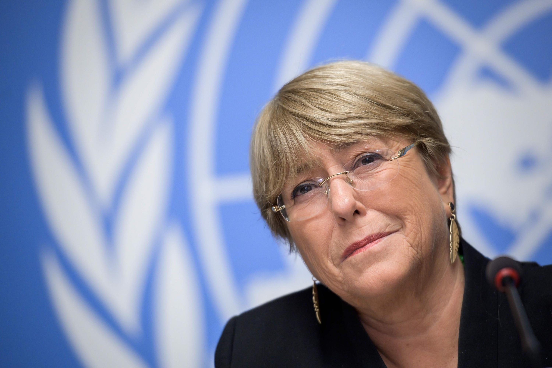 La Alta Comisionada de Derechos Humanos de la ONU, Michelle Bachelet, asiste a una conferencia en las Oficinas de las Naciones Unidas en Ginebra. (Foto: AFP)
