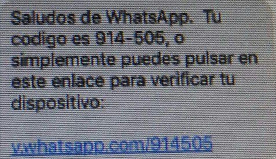 Este es el mensaje de texto que muchas personas han recibido a sus bandejas y que, supuestamente, proviene de WhatsApp.