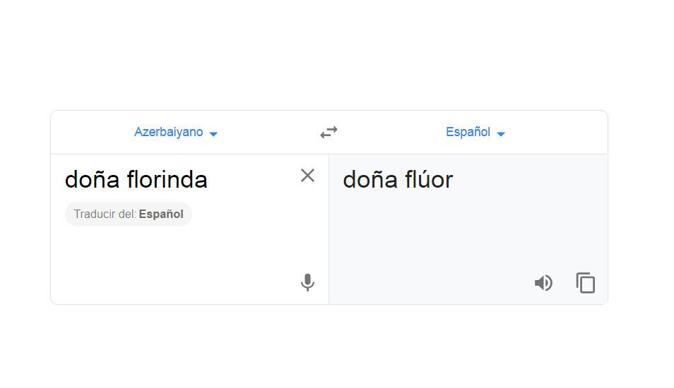 Esto sería para Google Traductor la palabra