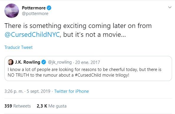 La escritora de la saga Harry Potter ha generado miles de reacciones con unas pocas palabras. (Foto: Twitter)