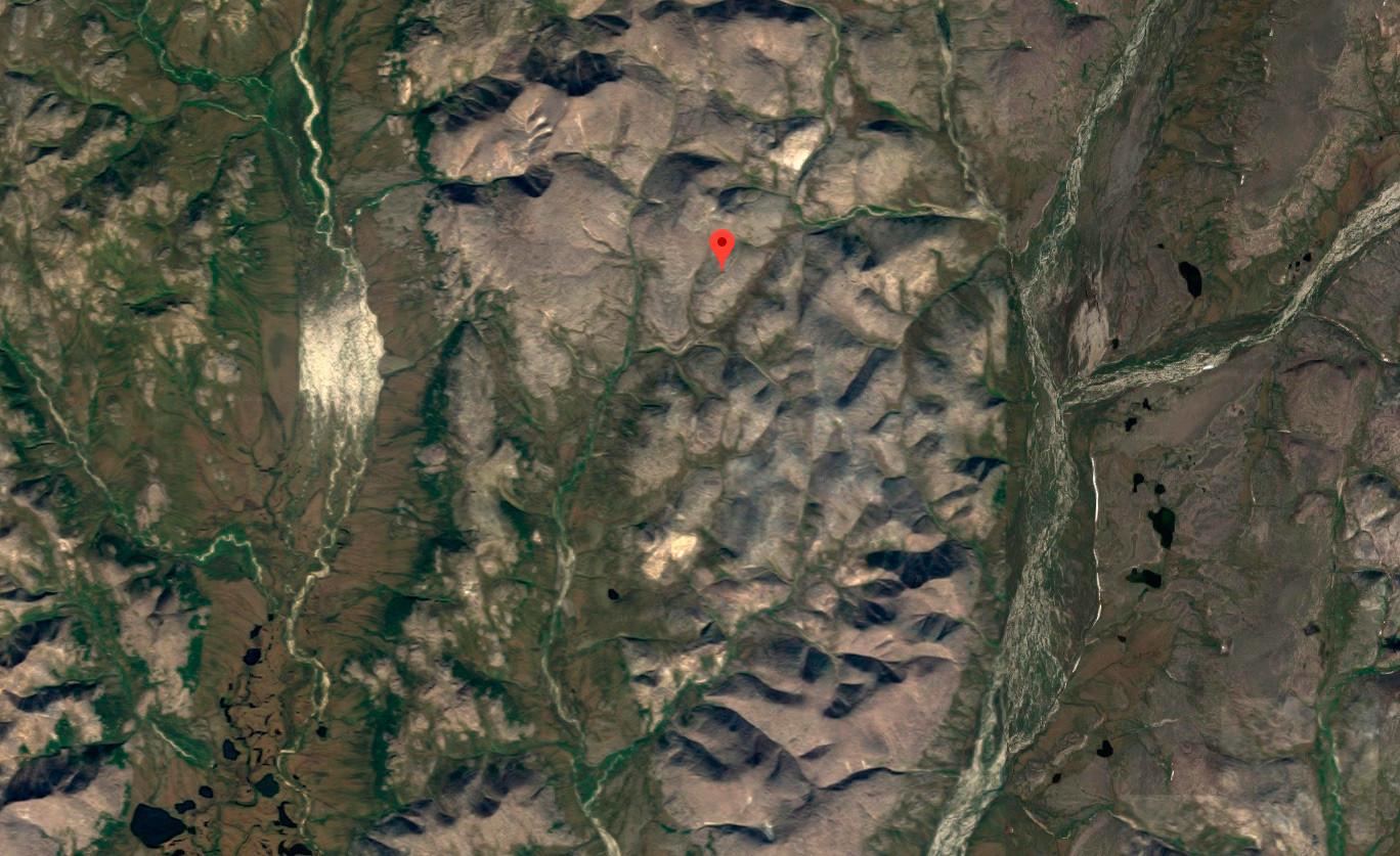 Así se ve la zona de Chukotka en Google Maps.