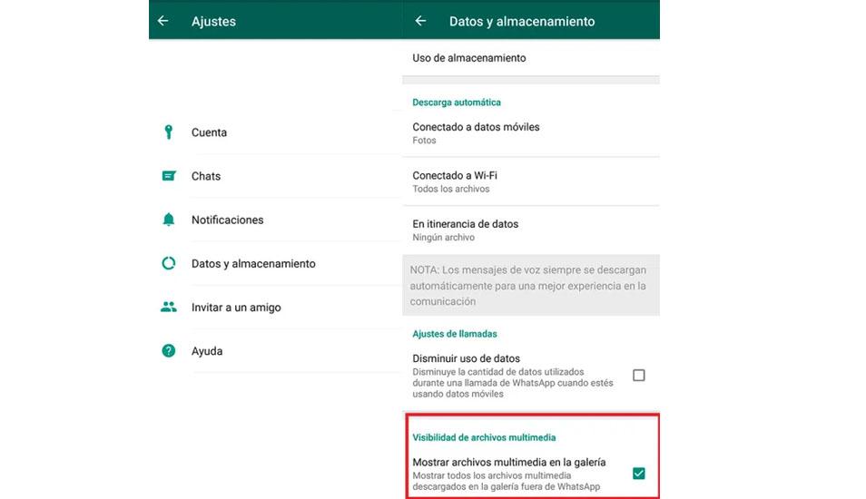 Para ocultar todas tus fotos y videos que recibes por WhatsApp deberás ingresar a Ajustes de la aplicación. (Foto: Captura)