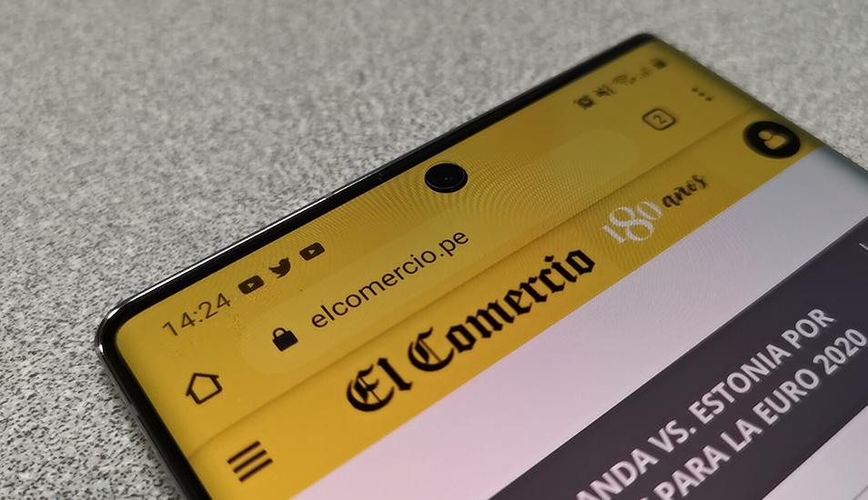 El panel es de 6.8 pulgadas con tecnología Dynamic AMOLED para la versión del Samsung Galaxy Note 10 Plus