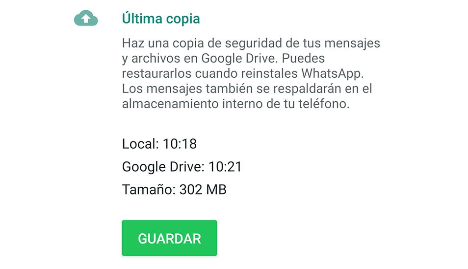 También puedes desinstalar e instalar la aplicación para recuperar algunos archivos. (Foto: WhatsApp)