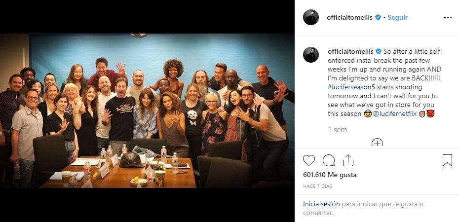 El equipo de Lucifer ya se encuentra grabando la quinta temporada de la serie. (Foto: Instagram).