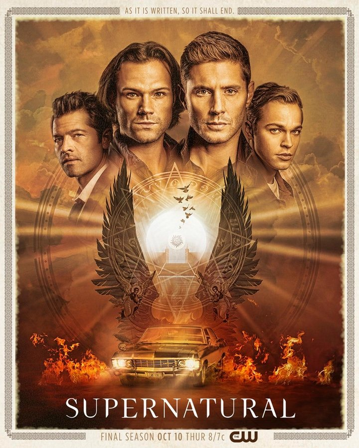 El primer póster de la temporada final de Supernatural (Foto: The CW)