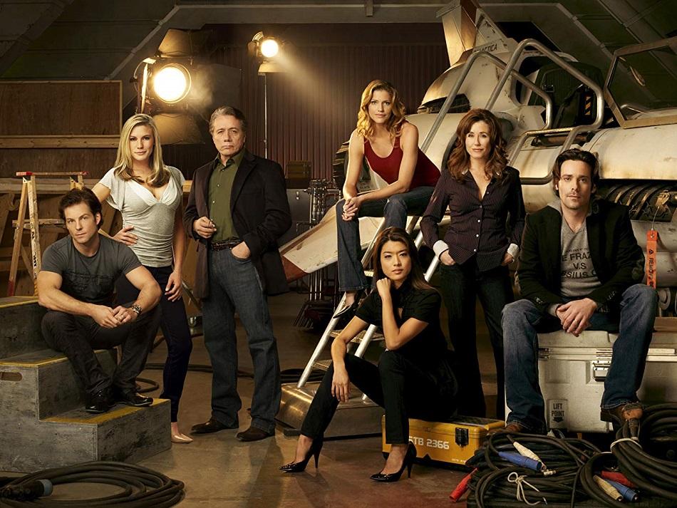 El elenco de la serie Battlestar Galactica de 2004 (Foto: Syfy)