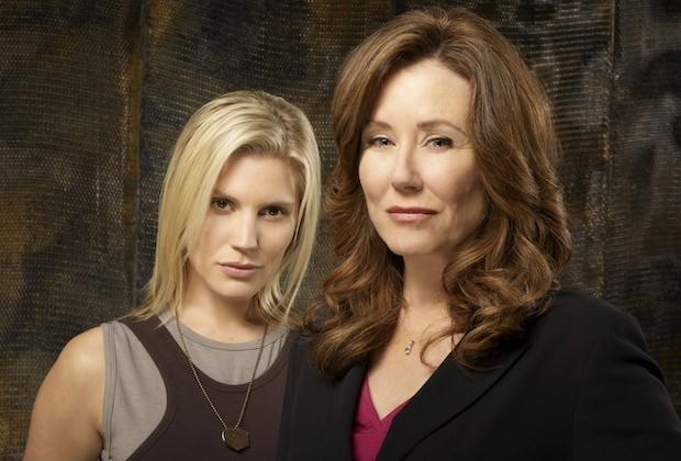 Katee Sackhoff y Mary McDonnell en Battlestar Galactica(Foto: Syfy)