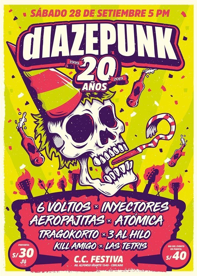 Diazepunk celebra sus 20 años de trayectoria con megaconcierto. (Foto: Difusión)
