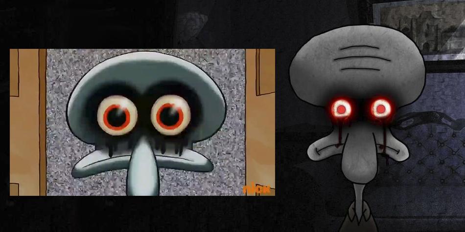 El creepypasta cobró vida en el último episodio de Bob Esponja  (Foto: Nickelodeon / Montaje)